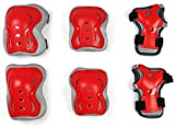 Kit de protección para la Rodilla y el Codo de la Rodilla Skate BMX 6pc para niños-Rojo_L
