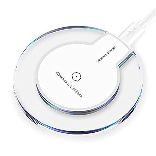 Caricatore Wireless,Caricabatterie Wireless Ricarica Rapida Caricabatterie a Induzione per phone e tutti gli smartphone standard QI Bianca