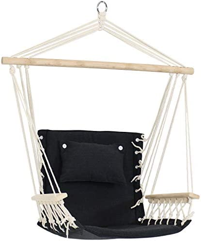 Sunnydaze Polycotton Hammock Chair with Armrests Comfortable Outdoor Hanging Chair Polycotton product image