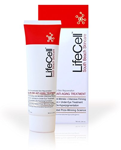 LifeCell South Beach Skincare - Tratamiento de enfriamiento para debajo de los ojos, crema antienvejecimiento, 20 ml
