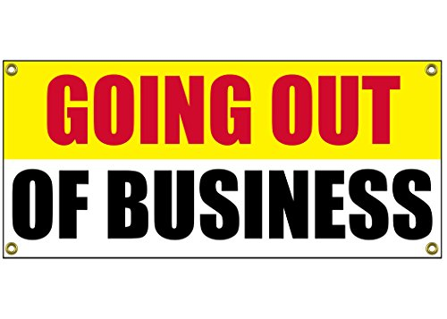 Going Out of Business Banner Retail Store Shop Business Sign 36' by 15' Store Closing