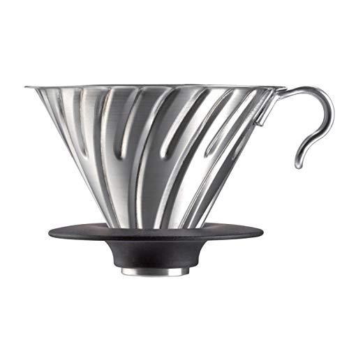 Hario Kaffeefilterhalter / V60 Metal DRIPPER 02 aus Metall/Silber, SCHWARZ für 1 - 4 Tassen