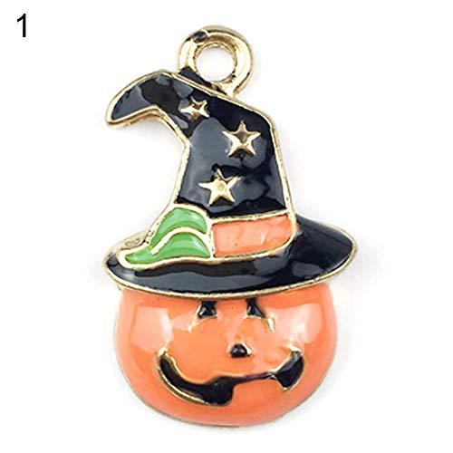 Muzhili33 Halloween-Anhänger, Kürbis-Katzen-Anhänger, Halsketten, Schmuck, Heimwerker-Zubehör 1