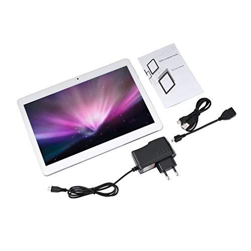 bansd Tablet PC Netcom 4G MTK6797 de 10 Pulgadas, Pantalla IPS de Diez núcleos, versión de telecomunicaciones, Plata, UE