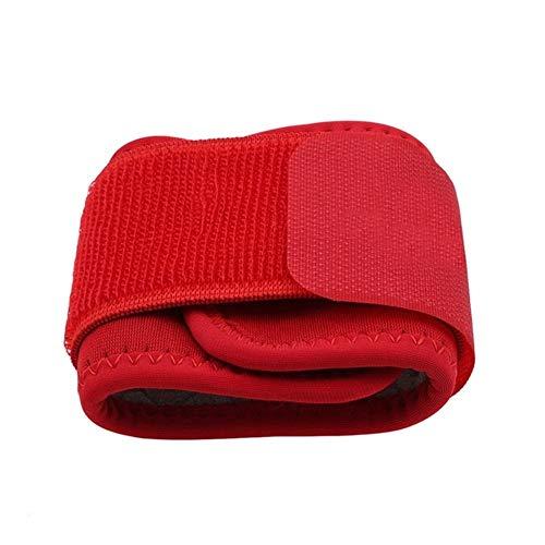 YNuo Pulseras Ajustables Suaves Ayuda de muñeca Brazales for Gym Deporte Baloncesto carpiano Protector Transpirable Venda del Abrigo de la Correa de Seguridad (Color : Red)