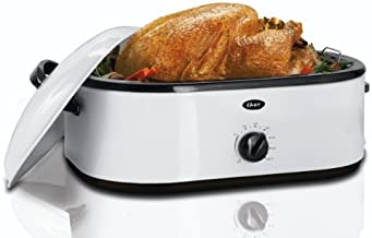 Oster Roaster Oven with Buffet Server, 18 Quart, White (CKSTRS71)