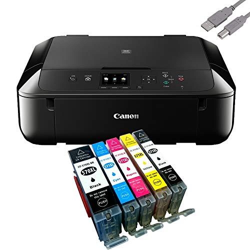 Canon Pixma MG5750 Multifunktionsgerät Schwarz Mit USB Kabel Und 5 YouPrint Tintenpatronen (Drucker, Kopierer, Scanner, USB, WLAN) Originalpatronen Ausdrücklich Nicht im Lieferumfang