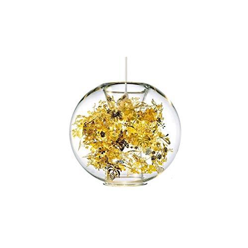DKORP Techo Lámpara de Cristal Transparente nórdica Moderna de una Sola Cabeza de la lámpara Creativa del Restaurante lámpara del Dormitorio de la lámpara de Techo