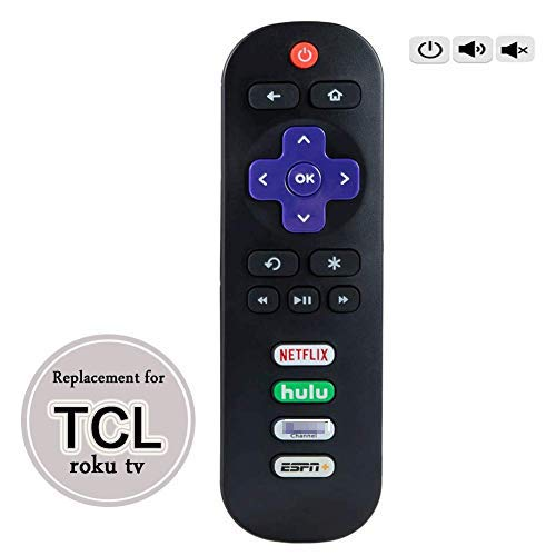 ECLINK Remote Control for TCL Roku TV Remote 06-IRPT20-R RC280J 55R625 65R625 60S42 50S423 55S423 50S425 55S425 65S425 65S525 55S525 50S525 43S525 40S321 50S421 43S421 49S515 43S515 55S515 75S515