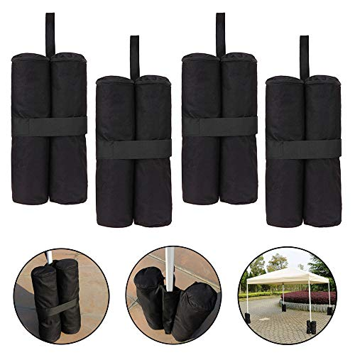 mistybabes Gazebos Weights,4Pcs Gazebo Sand Weights Bags Heavy Duty Weighted Feet Bag Leg Weights for Gazebo Canopy Tent Sun Shades Umbrella Trampolines Weighted Feet Bag