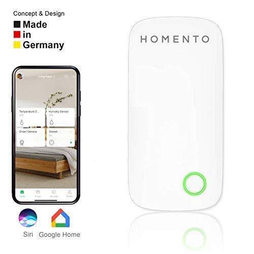 Homento Smarter Türalarm durch Türsensor/Fenstersensor, kabelloser Einbruchschutz - Fensterkontakt steuert Licht, Steckdose, Alarm etc. und Smartphone kompatibel – IOS & Android