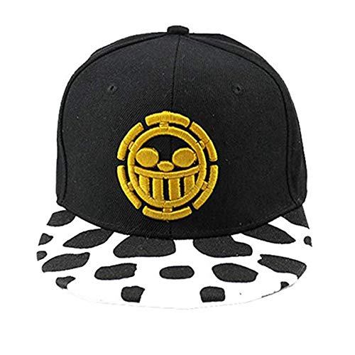 One Piece Logo bordado Perfil Soft Crown Unisex Baseball Hat Cosplay Hat Gift tipo C Talla única