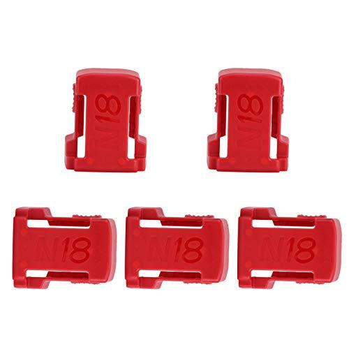 Lantro JS Soporte de Almacenamiento para Montaje en batería, Soporte de Montaje en batería de instalación Firme, operación Simple 5 Piezas para M18 18V Battery Home Tables Wall(Red)