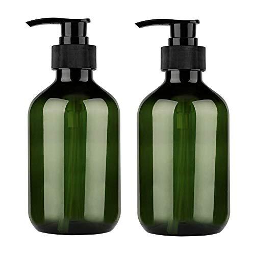 Rsoamy Shampoo Flaschen Seifenspender, Nachfüllbare Pumpflasche 500 ml, Brown&Amber Pumpspender für Bad oder Küche - Handwäsche, Lotionen, Shampoo, Conditioner, Duschgel