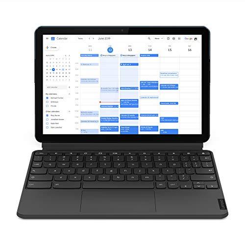 Lenovo Ideapad Duet Chromebook Tablet 25.65 cm (10.1 inch, 4 GB, 128 GB, Wi-Fi Only), Ice Blue, Iron Grey