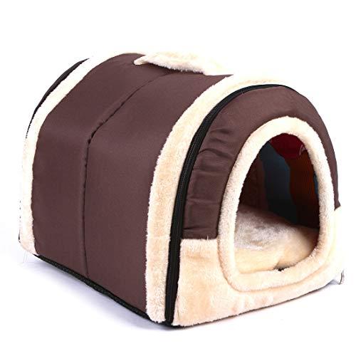 Obundi - Casa portátil para perros al aire libre con puerta, resistente al agua para perros pequeños, fácil de montar, perfecta para...