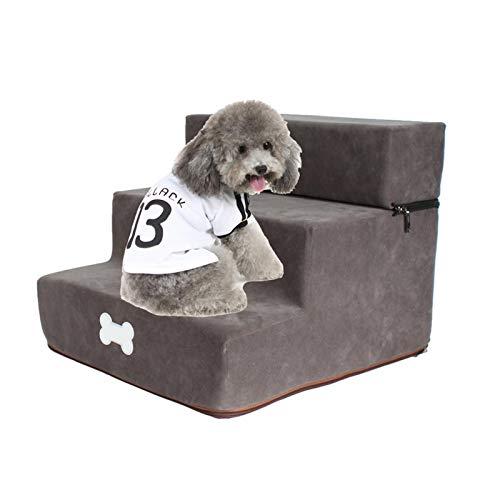 VENTDOUCE - Scaletta per animali domestici, in flanella, rimovibile e pieghevole, a 3 livelli, ideale come accessorio per animali domestici, per lavare le scale per entrambi i gatti
