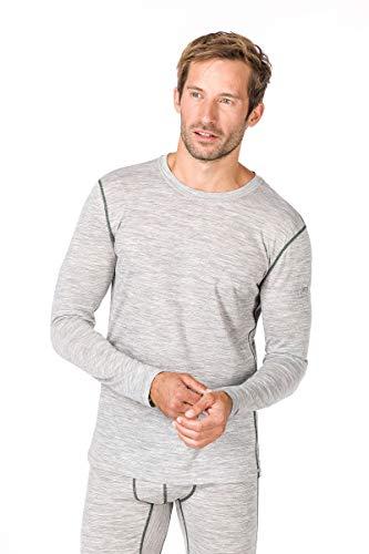 super. Natural T-Shirt M Base 140 T-Shirt à Manches Longues en Mérinos M Ash Melange/Duffel Bag