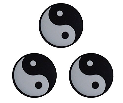 Pro's Pro - Damp - Tai Chi - Yin Yang - Vibrationsdämper/Stoßdämpfer für Tennisschläger schwarz/weiß- 3 Stück