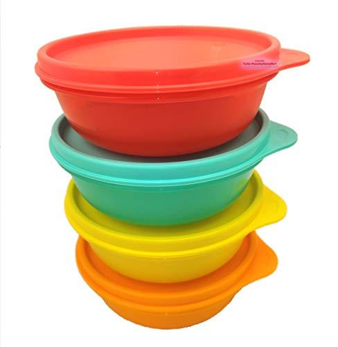 Tupperware Hit-Parade - Juego de 4 cuencos pequeños (300 ml), multicolor