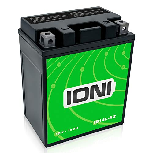 Motorrad Batterie 12V 14Ah AGM IONI ION (TYP - YB14L-A2) (versiegelt / wartungsfrei)