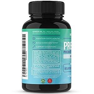 MAV Nutrition Probiotics + Prebiotics for Digestive Enzymes Support, Non-GMO, Vegetarian Friendly, 60 Count