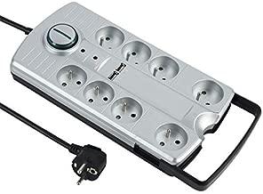 Electraline FR59763 59763 Multiprise 6 prises avec interrupteur Blanc 5 m