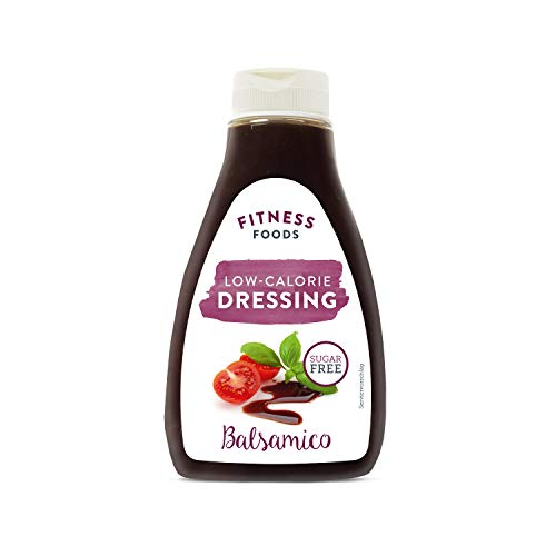 FITNESS FOODS Low Calorie Dressing Balsamico – Balsamico ohne Zucker – Fettfreies Balsamico Dressing - Kalorienarmes Balsamico Dressing - 1 x 250ml