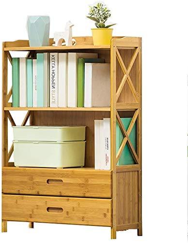 DGHJK Massivholz Bücherschrank Dreischichtige Steh Medium Schublade Student Lagerregals Schließfachausstellungsstand (Größe: 50 cm)