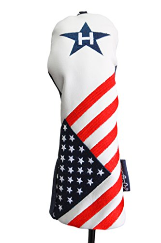 USA #3 Hybrid Patriot Golf Head Cover Limited Edition Vintage Retro Patriotic Red White Blue American Flag Headcover