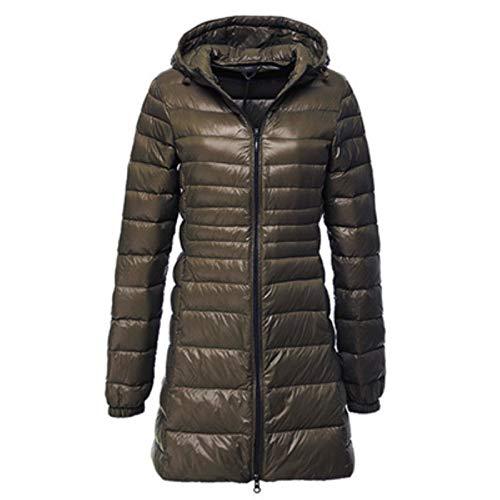 7XL 8XL Plus-Lange Unten Jacke Der Frauen-Winter Ultra Light Daunenjacke Frauen Mit Kapuze Daunenmantel Weiblichen Big Size Coats,Armeegrün,XXXL