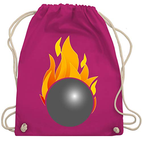 Shirtracer Bowling & Kegeln - Kegeln Kugel Flammen bunt - Unisize - Fuchsia - bowling kugel - WM110 - Turnbeutel und Stoffbeutel aus Baumwolle