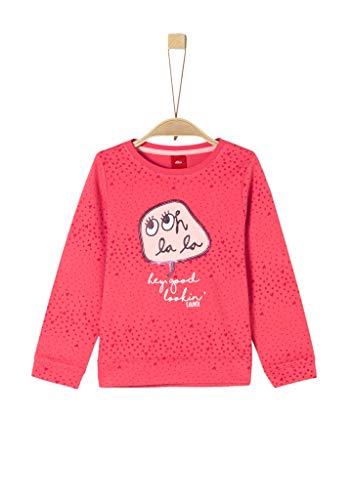 s.Oliver Mädchen 54.899.41 Sweatshirt, Rosa (Pink AOP 45a0), 116