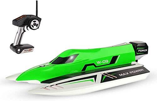 DJXWZX Sin escobillas de alta velocidad RC F1 Racing Barco Barco for niños y adultos de nacimiento Halloween 44 * 17,5 * 12,5 mm 2,4 GHz de control remoto lancha rápida 2CH 45 kmh Coche de juguete