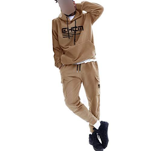 Chándal Completo para Hombre Conjunto 2 Piezas Sudadera con Capucha + Pantalones Largos de Jogging Diseño Único para Entrenamiento, Gimnasio, Diario