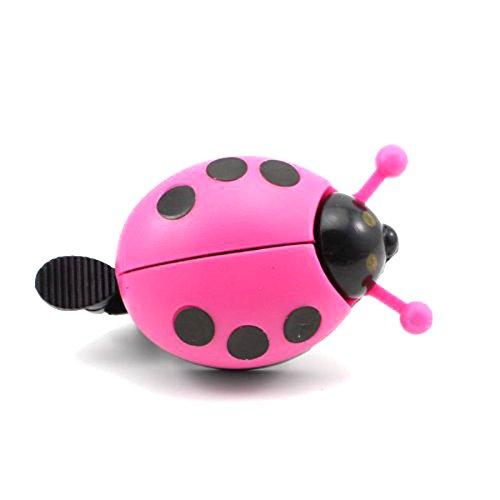 LIOOBO Funny Cartoon Lady Beetle Ladybug Shaped Bike Bicycle Cycling Handlebar Ring Sound Bell Horn (Rosy)