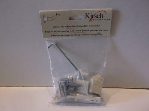 Kirsch Heavy Duty Adjustable Curtain Rod Bracket Kit