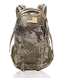 """Waterproof Backpack 40L Lightweight - Diamond Candy Adult Hiking Backpack Mens Womens Outdoor Backpack for Hiking Trekking Rock Climbing Camping Riding Traveling Leisure, with Rain Cover, for 16 """"Laptop (Black)"""