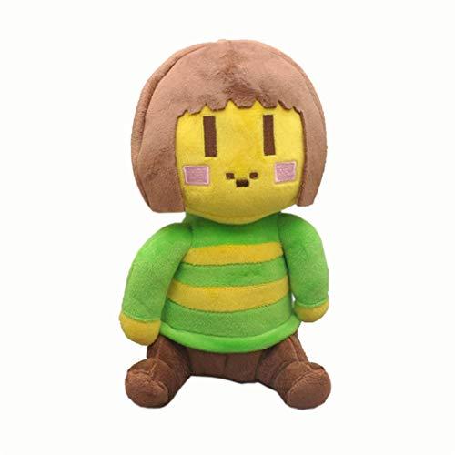 3 Kinds 25CM Undertale Plush Toy Doll Sans Frisk Chara Stuffed Cartoon Toys Birthday For Children Kids Gifts (chara 25cm)