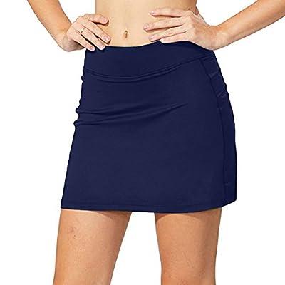 Women's Athletic Skorts Lightweight Active Skirts with Shorts Pockets Running Tennis Golf Workout Sports,178,Dark Blue,M