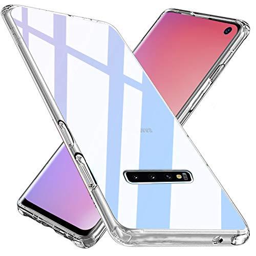 Wlife Crystal Clear Kompatibel mit Samsung Galaxy S10 Hülle Transparent Stoßfest Anti-Gelb Anti-Kratzer Dünn Handyhülle Slim PC mit TPU Silikon Rahmen Durchsichtige Schutzhülle Samsung Galaxy S10 Case