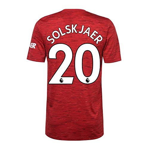 Manchester United FC - Camiseta de Primera equipación para Hombre - 2020/21 - Producto Oficial - Rojo - Solskjaer 20 - XL