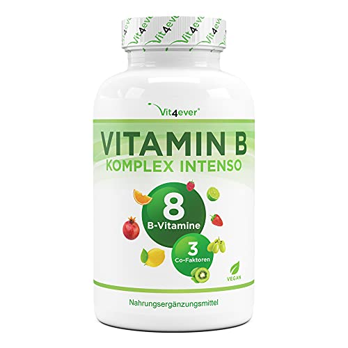 Vitamin B Complex Intenso - 180 cápsulas (6 meses) -...