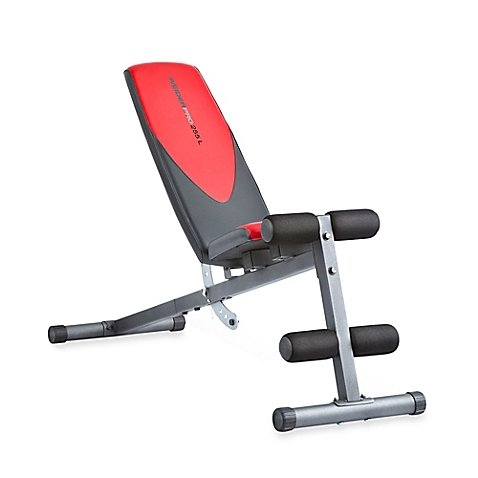 Weider Pro 225 L Adjustable Incline Bench | 4-roll leg lockdown