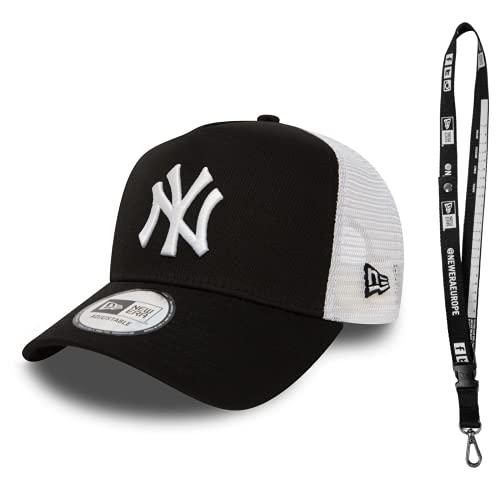New Era New York Yankees Los Angeles Dodgers NY LA, cappellino da baseball, accessorio incluso, Clean Trucker nero/bianco, Taglia unica
