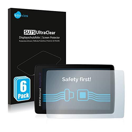savvies Protector Pantalla Compatible con BMW Motorrad Navigator Vi (6 Unidades) Pelicula Ultra Transparente
