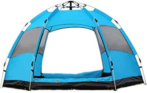 Ankon Carpas para camping tienda de campaña Al aire libre 3-5 personas Tienda de lluvia Tienda doble Tienda Camping Camping Camping Portátil Bolsa de almacenamiento Se puede utilizar para el parque de
