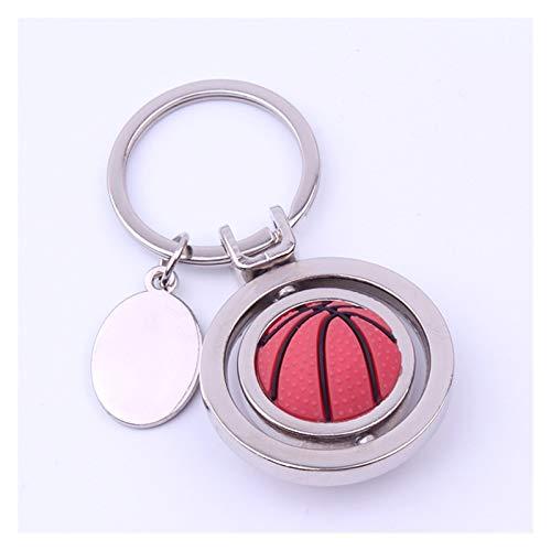 Tderloi Schlüsselbund 3D Sport rotierender Basketball Fußball Fußballtisch Tennis Badminton Golf Keychain Schlüsselanhänger Ring Key FOB Ball Geschenke Für Männer (Color : Rotatable Basketball)
