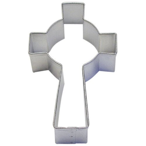 Celtic Cross Cookie Cutter 3.5 Inch - Made in the USA – Easter OTBP Cookie Cutters Tin Plated Steel Celtic Cross Cookie Mold