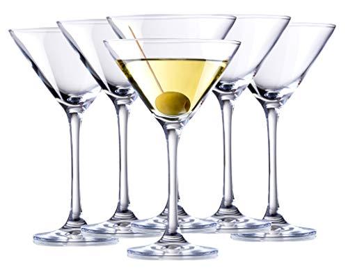 Bormioli Rocco 6X Martini Glas Martinigläser Gläser Martinischale Cocktailglas Cocktail Sekt Champagner Dessert Schale